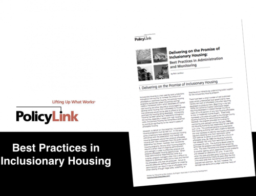 Best Practices in Inclusionary Housing