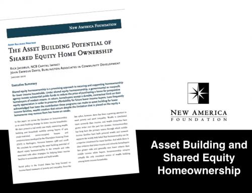 The Asset Building Potential of Shared Equity Homeownership