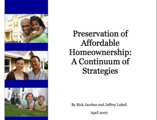 Preservation of Affordable Homeownership